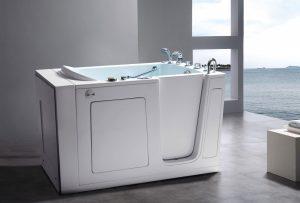 White walk-in tub